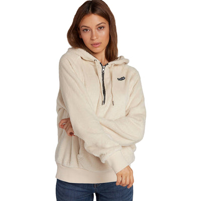 Surf Shop, Surf Clothing, Volcom, Snugz N Hugz Hoodie, Hoodies, Cream