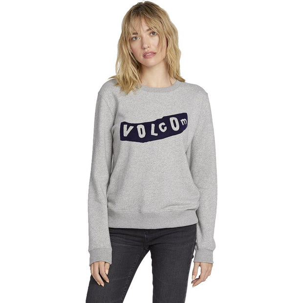 Surf Shop, Surf Clothing, Volcom, Sound Check Sweater, Sweatshirt, Heather Grey
