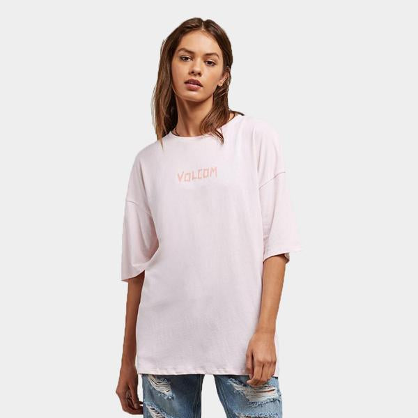 Surf Shop, Surf Clothing, Volcom, Stone Scraper, Tshirt, Light Pink