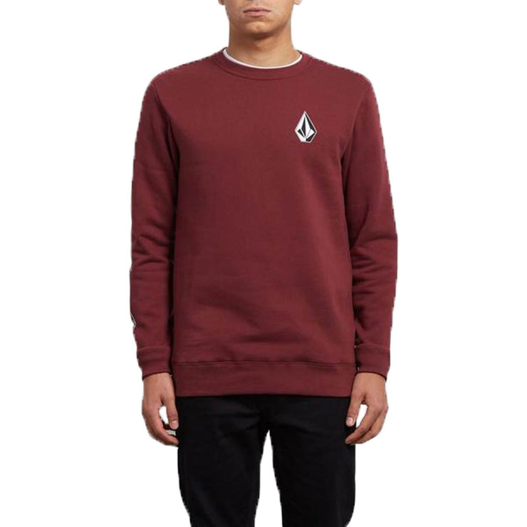 Surf Shop, Surf Clothing, Volcom, Supply Stone Crew, Sweatshirt, Burgundy