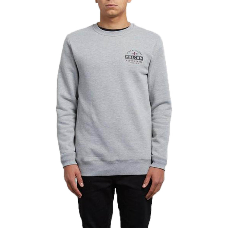 Surf Shop, Surf Clothing, Volcom, Supply Stone Crew, Sweatshirt, Grey