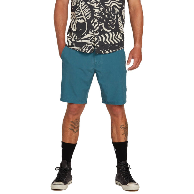 "Surf Shop, Surf Clothing, Volcom, Surf N' Turf Hybrid Faded 19"", Shorts, Sea Navy"