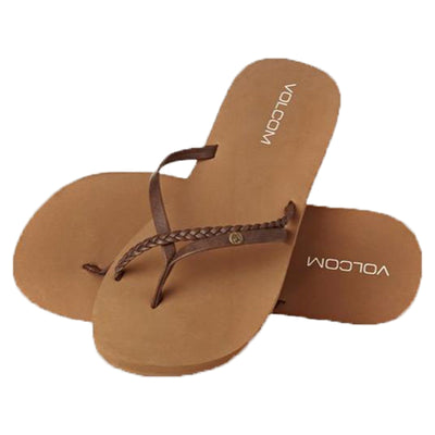 Surf Shop, Surf Clothing, Volcom, Thrills, Flip Flops, Brown