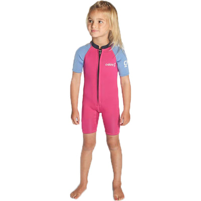 Surf Shop, Surf Hardware, C-Skins, Baby Shorti, Wetsuit, Magenta/Powder Blue/Slate