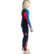 Surf Shop, Surf Hardware, C-Skins, Element 3/2 2019 Jnr Unisex Steamer Wetsuit, Wetsuits, Navy/Fluro Red/Cyan