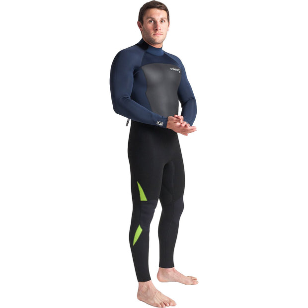 Surf Shop, Surf Hardware, C-Skins, Legend 4/3 Back Zip Steamer, Wetsuit, Black/Bluestone/Lime
