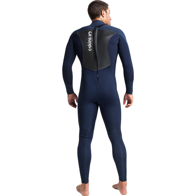 Surf Shop, Surf Hardware, C-Skins, Session 4/3 Back Zip Steamer, Wetsuit, Slate/Bluestone/Silver