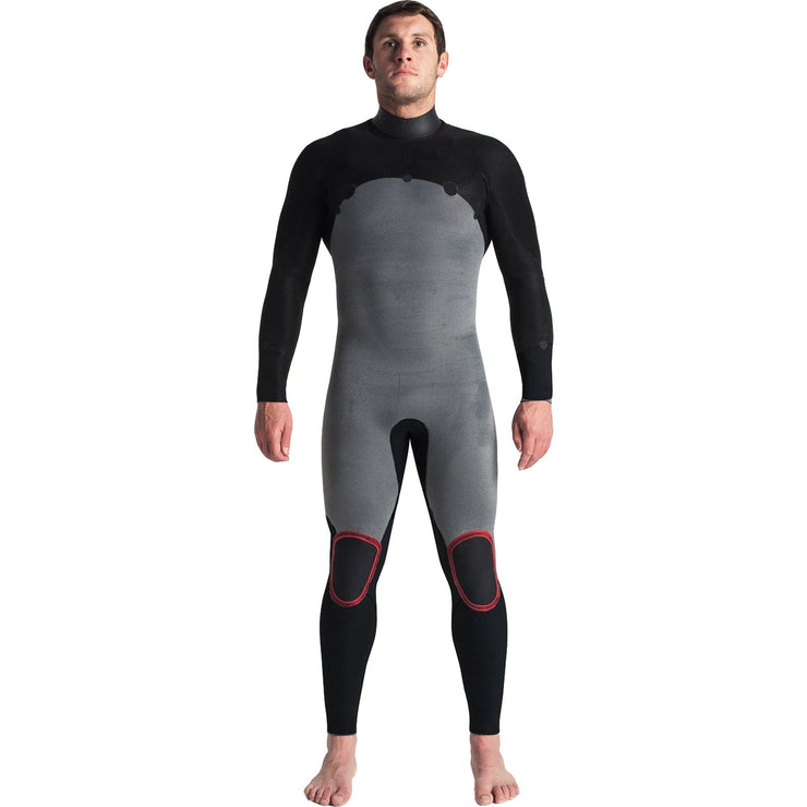 Surf Shop, Surf Hardware, C-Skins, Session 5/4/3 Chest Zip Steamer, Wetsuit, Black/Black/White