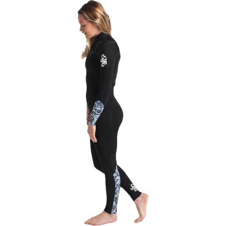 Surf Shop, Surf Hardware, C-Skins, Solace 3/2 Chest Zip, Wetsuit, Black/Mono Shells