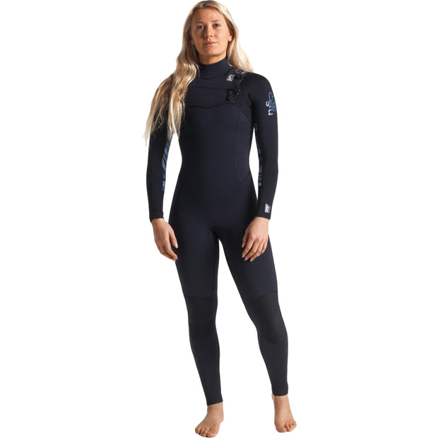 Surf Shop, Surf Hardware, C-Skins, Solace 4/3 Chest Zip Steamer, Wetsuit, Black/Coral/Bluestone