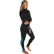 Surf Shop, Surf Hardware, C-Skins, Surflite 4/3 Back Zip Steamer, Wetsuit, Slate/Black/Ice Blue