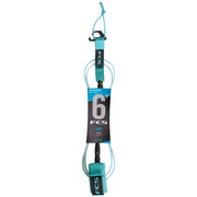 Surf Shop, Surf Hardware, FCS, 6FT Comp Essential Series, Leash, Blue
