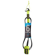 Surf Shop, Surf Hardware, FCS, 6FT Comp Essential Series, Leash, Green