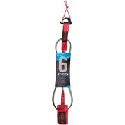 Surf Shop, Surf Hardware, FCS, 6FT Comp Essential Series, Leash, Red