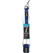 Surf Shop, Surf Hardware, FCS, 7FT Essential Regular Leash, Leashes, Cobalt