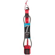 Surf Shop, Surf Hardware, FCS, 7FT Essential Regular Leash, Leashes, Red