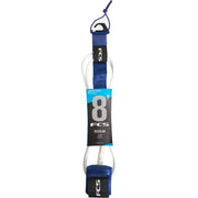 Surf Shop, Surf Hardware, FCS, 8FT Essential Regular Leash, Leashes, Cobalt