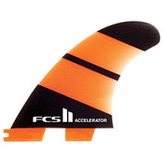 Surf Shop, Surf Hardware, FCS, Accelerator Neo Glass Thruster, Small, Fins, Orange