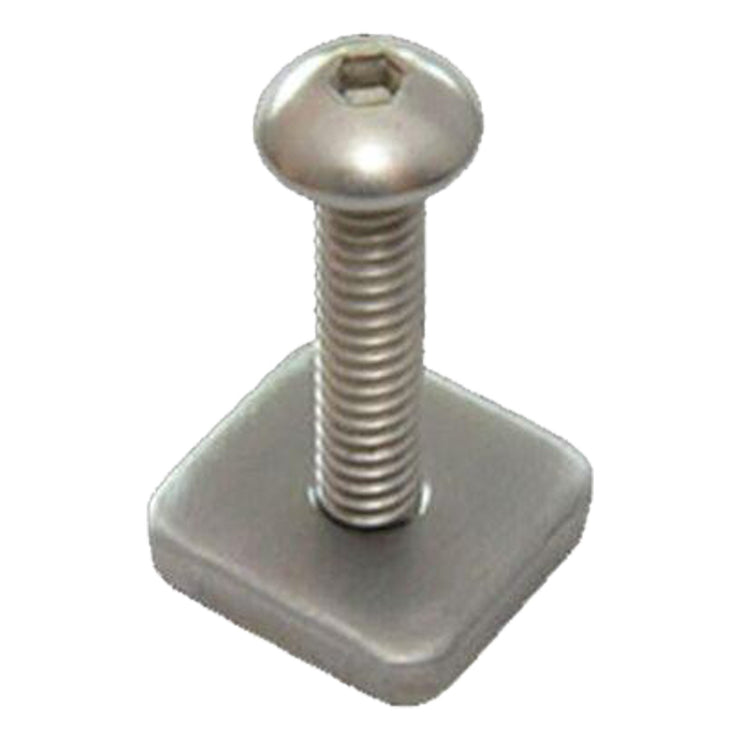 Surf Shop, Surf Hardware, FCS, Longboard Screw And Plate, Surfboard Accessories, Silver
