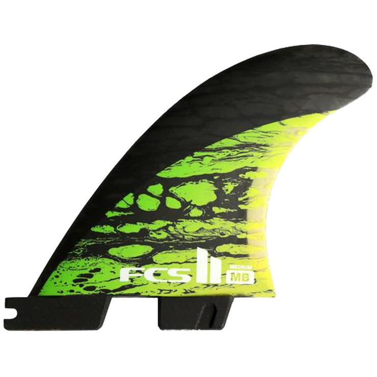 Surf Shop, Surf Hardware, FCS, MD PC Carbon Tri Fins, Medium, Fins, Green