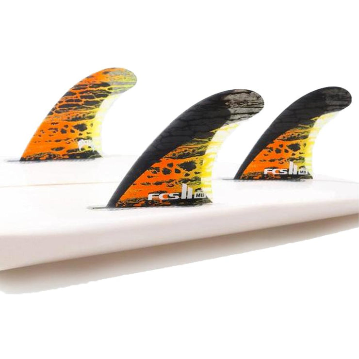 Surf Shop, Surf Hardware, FCS, MD PC Carbon Tri Fins, Small, Fins, Orange
