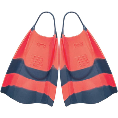 Surf Shop, Surf Hardware, Hydro, Tech 2 Fins, Bodyboard Fins, Navy/Coral