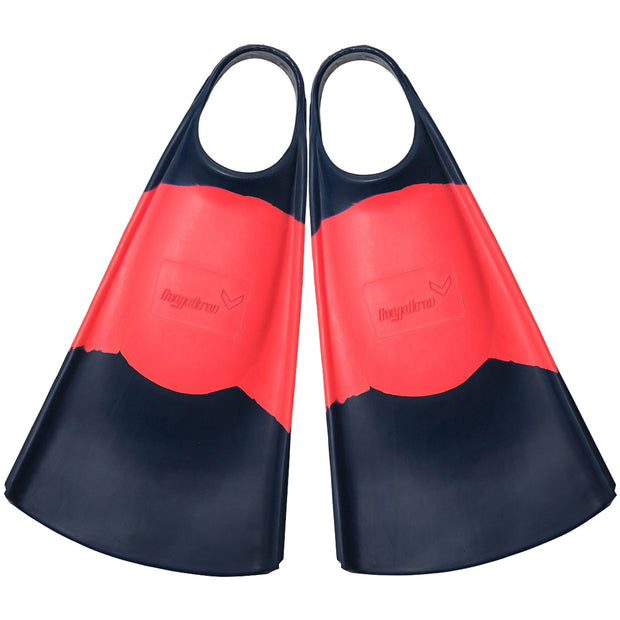 Surf Shop, Surf Hardware, Hydro, The OG Fins, Bodyboard Fins, Navy/Coral