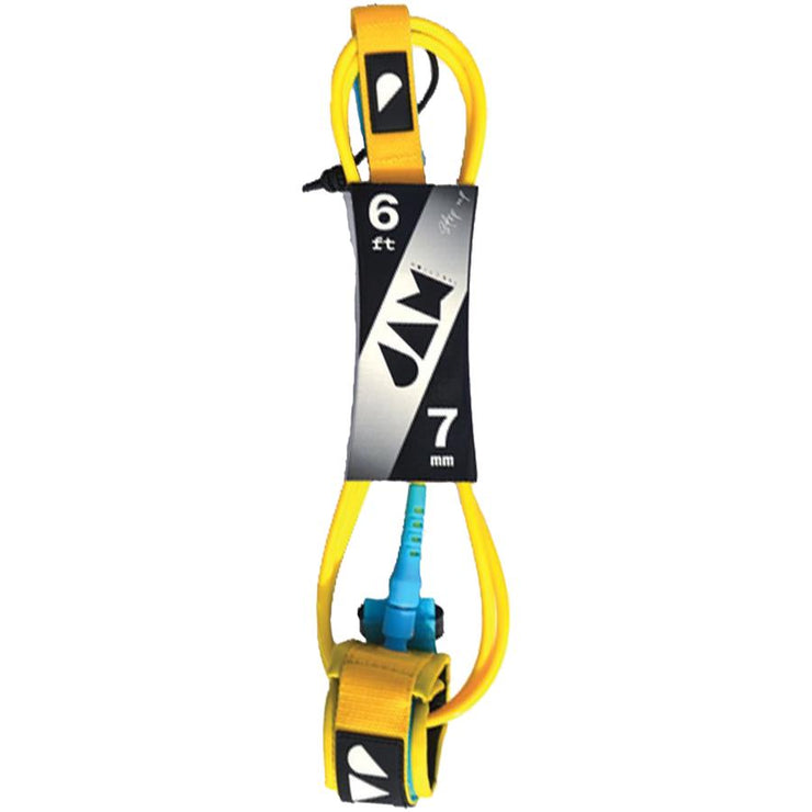 Surf Shop, Surf Hardware, Jam Traction, 6ft Step Up Leash, Leashes, Yellow