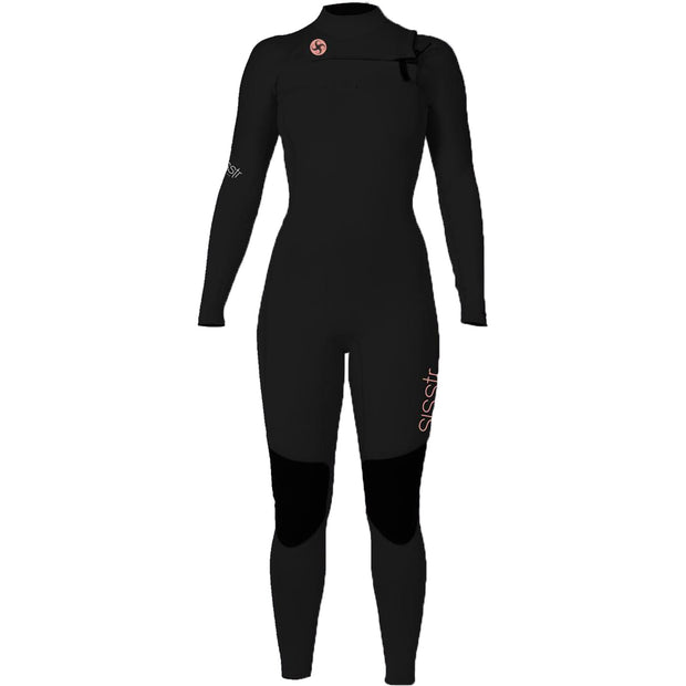 Surf Shop, Surf Hardware, Sisstr Evolution, 7 Seas 4/3 Chest Zip, Wetsuit, Black