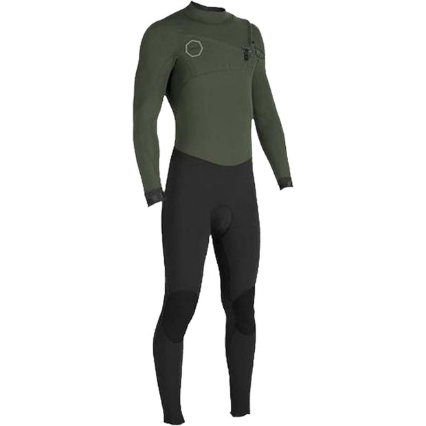 Surf Shop, Surf Hardware, Vissla, 7 Seas 3/2 Full 50/50 Chest Zip, Wetsuit, Army