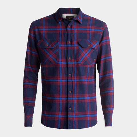Fitz Forktail Flannel Long Sleeve Shirt | Navy