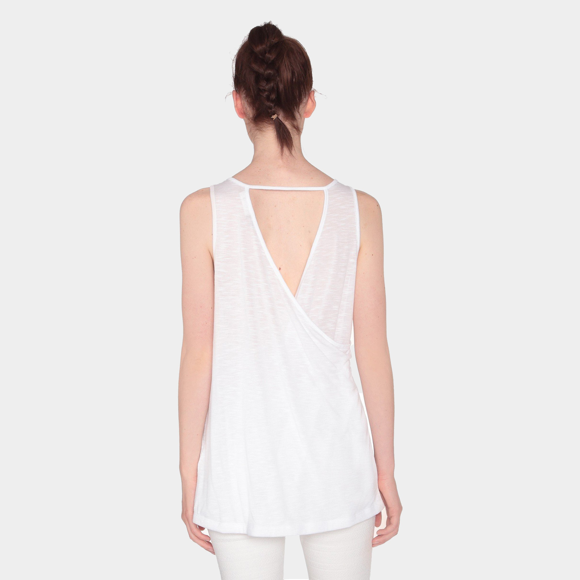 Back It Up Tank Top | White