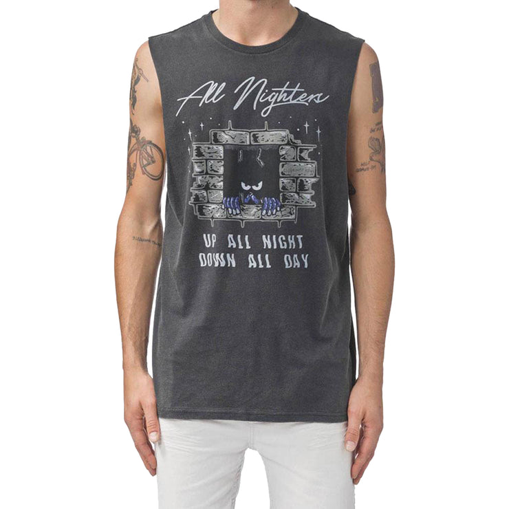 Surf Shop, Surf Clothing, Globe, All Nighters Muscle, T-Shirt, Washed Black