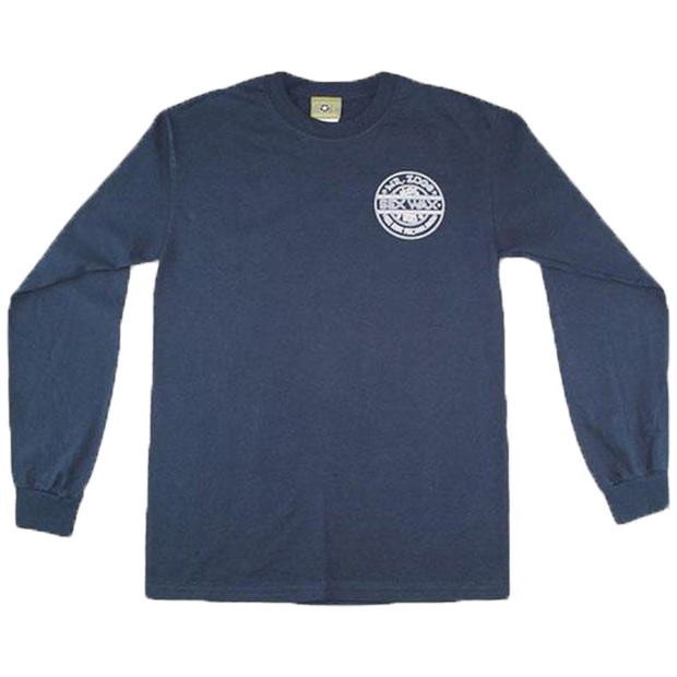 Pinstripe Long Sleeve | Navy