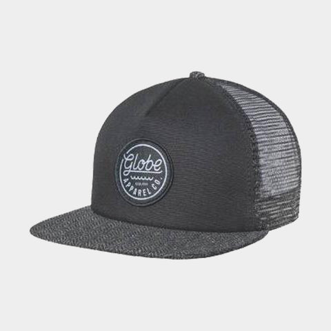 Expedition Trucker Snap Back Cap | Black/Herringbone