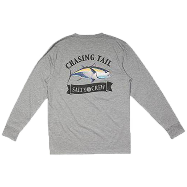 Surf Shop, Surf Clothing, Salty Crew, Sickle Fin Tech LS Tee, Tshirt, Athletic Heather