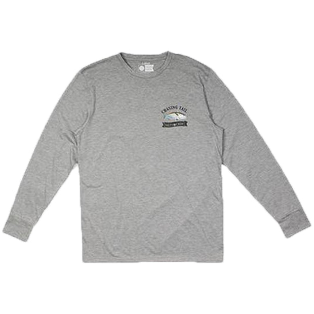 Sickle Fin Tech LS Tee | Athletic Heather