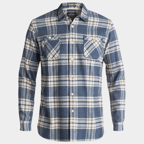 Waterman Moon Tides Flannel Long Sleeve Shirt | Estate Blue
