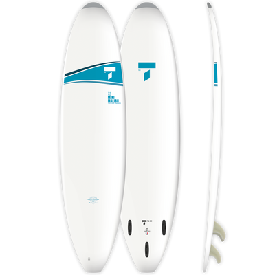 Surf 7'3 Mini Malibu - White/Blue
