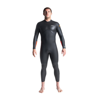 Swim Research 4:3 Mens GBS BZip Steamer - Black/Orange