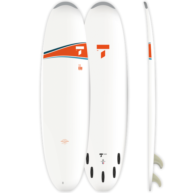 Surf 7'0 Egg - White/Orange
