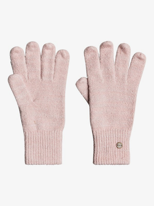 Kind Of Day Knitted Gloves - Coral Blush