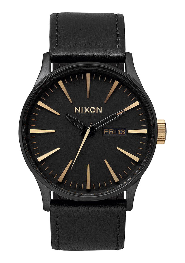 Sentry Leather - Matte Black/Gold