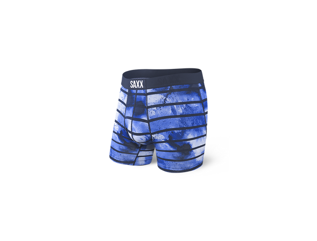 Vibe Boxer Brief - Navy Tie Dye Stripe