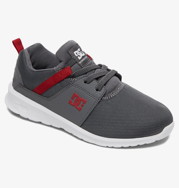 Heathrow Boys Shoes | Grey/Dark Red