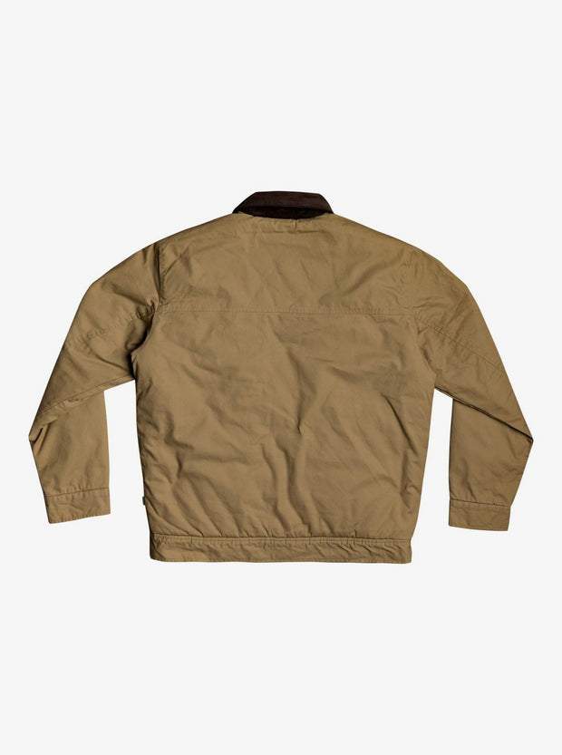Canvas Cord Workwear Cord Collar Jacket - Dull Gold