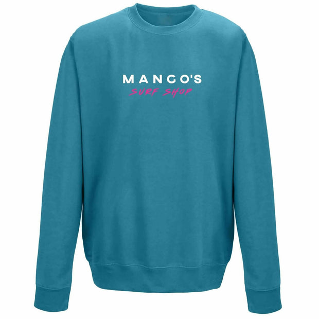 Blue Green Mango Surfing Jumper Crew