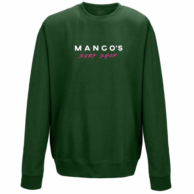 Dark Green Mango Surfing Crew Jumper