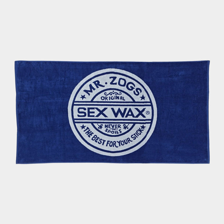 Sex Wax Logo Beach Towel | Blue