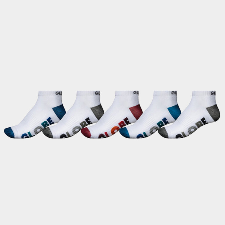Multi Stripe Ankle sock 5 Pack | WHT
